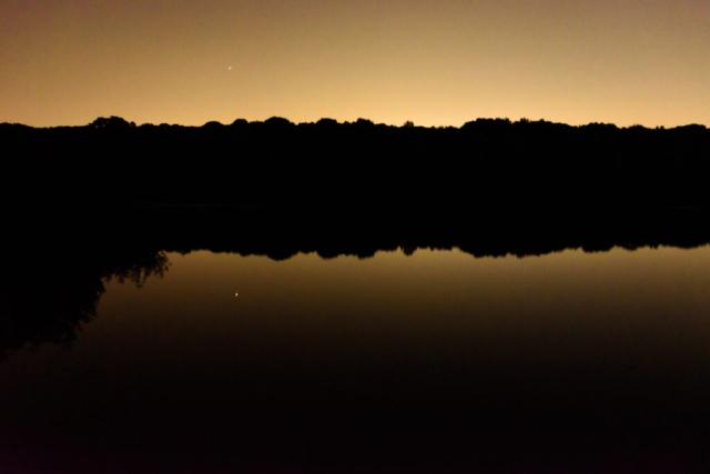 Ruislip Lido at dusk